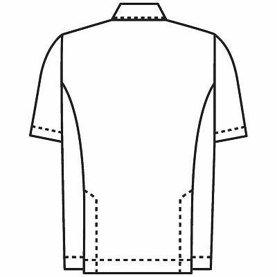 KAZEN 医務衣(男女兼用) 半袖 ベージュ LL 762-74 (直送品)