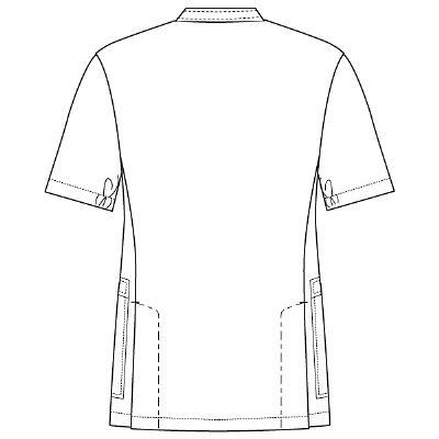 フォーク 男子医務衣 ホワイト M 1087-1 1枚 (直送品)
