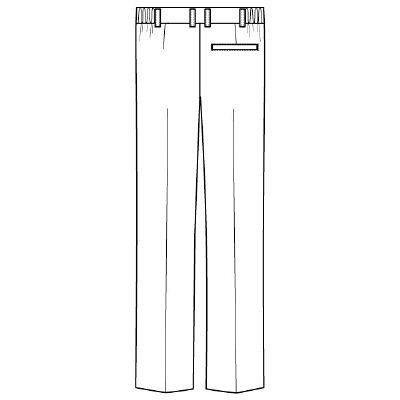 フォーク メンズパンツ ホワイト LL 1915-1 1枚 (直送品)
