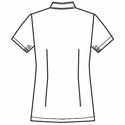 フォーク 女子医務衣 サックス LL 2089-2 1枚 (直送品)