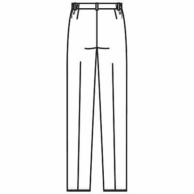 フォーク レディスパンツ ホワイト LL 2915-1 1枚 (直送品)