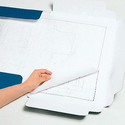 キングジム 図面ファイルGS A2サイズ用・2つ折 青 1172 15冊