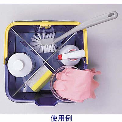 テラモト 仕切付きバケツ 青 CE-447-000-0 (直送品)