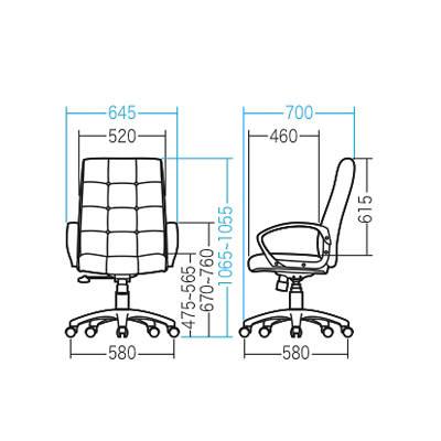 サンワサプライ PUレザーチェア オフィスチェア 肘付 ブラック SNC-L13 1脚 (直送品)