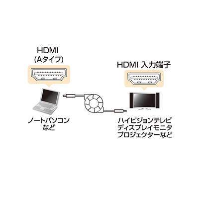 サンワサプライ HDMI巻取り 1.2m