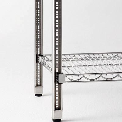 河淳 スチールメッシュ 棚5段 奥行600mm幅1200mm高さ1800mm (直送品)