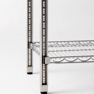 河淳 スチールメッシュ 棚4段 奥行450mm幅900mm高さ1500mm (直送品)