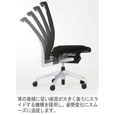 イトーキ ヴェント オフィスチェア プレーンメッシュアジャスタブル 肘付 ネイビー KE-837JB-T1B2 1脚 (直送品)