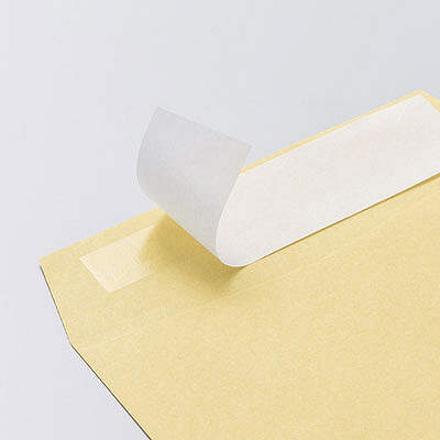 寿堂 コトブキ封筒(クラフト・サイド貼り)テープ付 長3〒枠あり 1000枚(100枚×10パック)