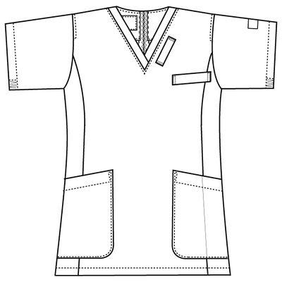 フォーク 医療白衣 ワコールHIコレクション レディススクラブ(後ろジップ) HI700-16 バーガンディー LL (直送品)