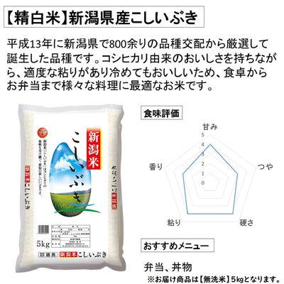 新米【無洗米】新潟県産こしいぶき5kg
