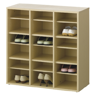 Adatto 木製スリッパ&シューズラック 3段3列 shoes rack-3 NA 1台