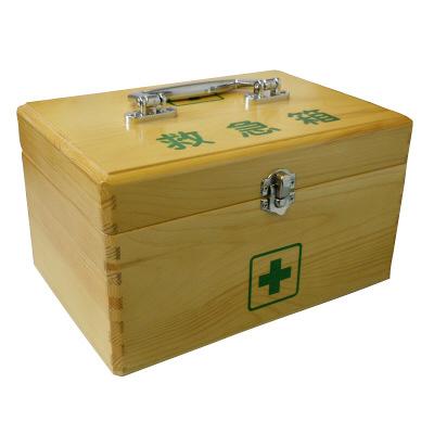 リーダー木製救急箱 Mサイズ 782502 1個 日進医療器 (取寄品)