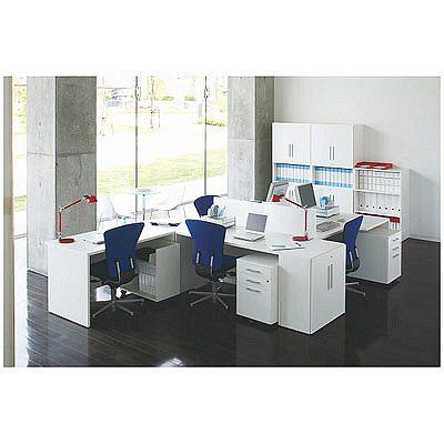DESIGNA(デザイナ) デザイナライン デスクサイドシェルフ  ホワイト  幅700×奥行338×高さ720mm  1台 (取寄品)