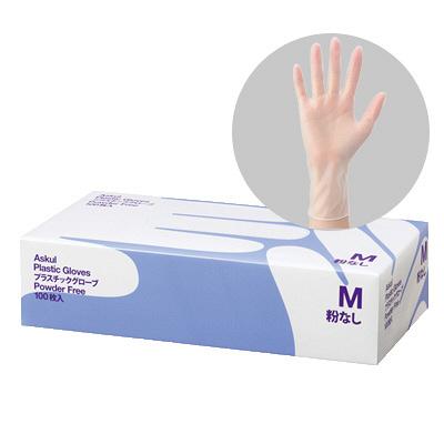 アスクルビニール手袋 M 粉なし
