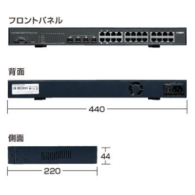 サンワサプライ レイヤー2 Webスマート Gigaスイッチ 24ポート LAN-GIGASFP24 1個 (直送品)