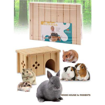 Ferplast 小動物用 木製ハウス SIN 4646 ferplast うさぎ 158433