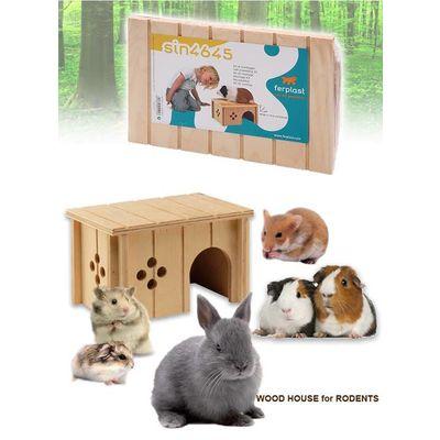 Ferplast 小動物用 木製ハウス SIN 4645 ferplast 158432