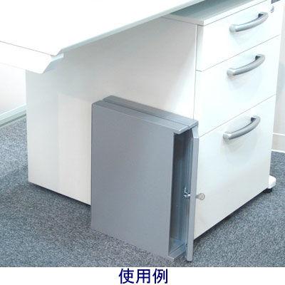 ぶんぶく 機密書類回収ボックス デスクサイド シルバー KIM-S-7 (直送品)