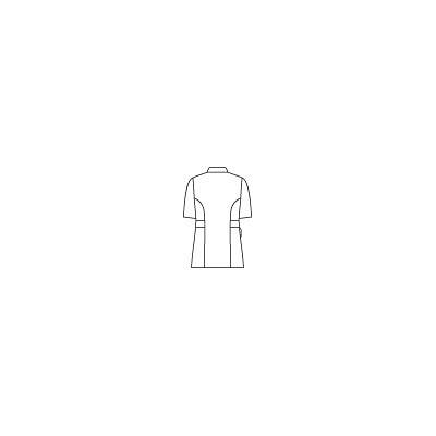 住商モンブラン スクエアカラージャケット 半袖 サックス L 73-1924 (直送品)