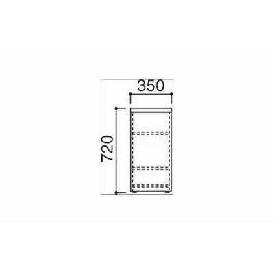 オカムラ ファルテ2 コアサブデスク ナチュラル (直送品)