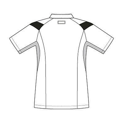 ルコックスポルティフ メンズケーシージャケット(医務衣) ホワイト×ネイビー L UQM1007 1枚 (直送品)