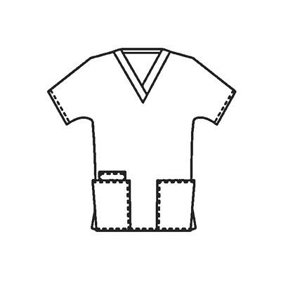 スクラブ4700(男女兼用) 4700 ブラック XS (取寄品)