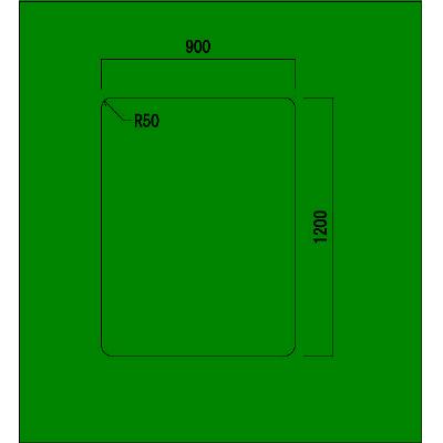 アイリスチトセ チェアマット(ポリカーボネート製) 角型 PCM-129K 1枚 1枚