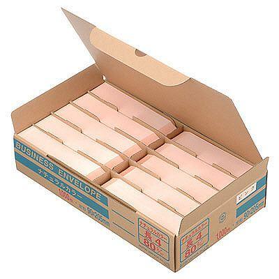 ムトウユニパック ナチュラルカラー封筒 長4 ピンク 1000枚
