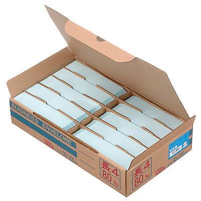 ムトウユニパック ナチュラルカラー封筒 長4 ブルー 1000枚