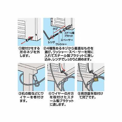 サンワサプライ ユニバーサルセキュリティーキット SL-1 (取寄品)