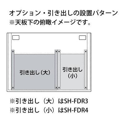 サンワサプライ SH-FDシリーズ SOHOデスク(キャスター付) 平机 引出し無し ライトグレー 幅1000×奥行700×高さ700mm 1台 (直送品)
