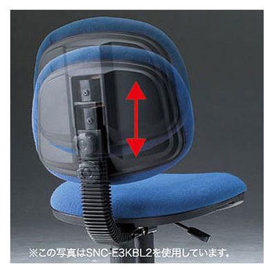 サンワサプライ エコロジーチェア オフィスチェア 肘無し ブルー SNC-E3KVBL2 1脚 (直送品)