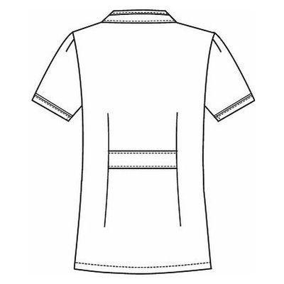 フォーク チュニック 2015EW-5 ホワイト×グレー L ナースジャケット (直送品)