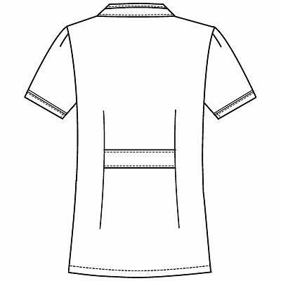 フォーク チュニック 2015EW-5 ホワイト×グレー EL ナースジャケット (直送品)