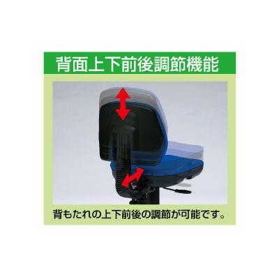 サンワサプライ モールドウレタンチェア オフィスチェア 肘無し ブルー SNC-T145BL 1脚 (直送品)