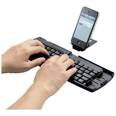 エレコム Bluetooth折りたたみキーボード 日本語キー TK-FBM032BK