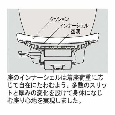 イトーキ エピオス オフィスチェア エクストラハイバックループ 肘付 グレー KE-456GBEZGC5C7 1脚 (直送品)