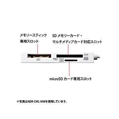 サンワサプライ USB2.0 カードリーダー ADR-CML16BK (取寄品)