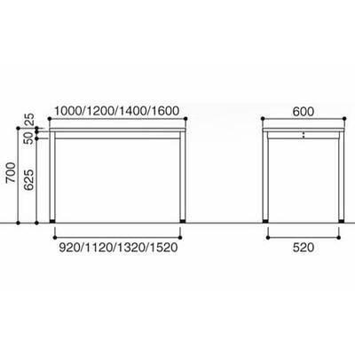 岡村製作所 オプシスREテーブル1200Wホワイト (直送品)
