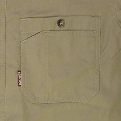 カジメイク ボタンダウンシャツ ベージュ L (取寄品)