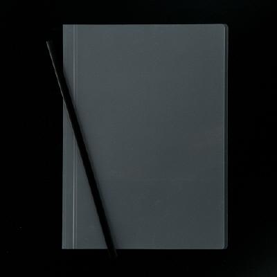 アスクル レール式クリアーホルダー A4タテ 50枚とじ ブラック 10冊