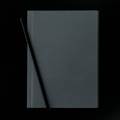 アスクル レール式クリアーホルダー A4タテ 50枚とじ ブラック 100冊