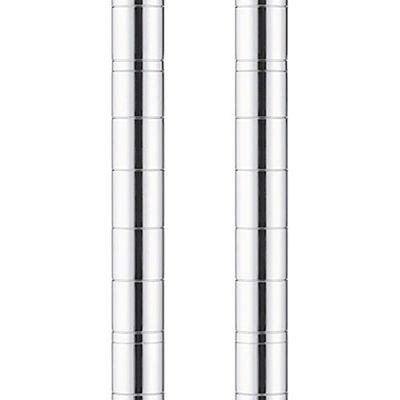アイリスオーヤマ ポール直径25mm メタルラック ポールパーツ 高さ470mm MR-5P 1本(直送品)