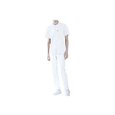 ミズノ ユナイト ケーシージャケット(男女兼用) ホワイト LL MZ0050 医療白衣 1枚 (取寄品)