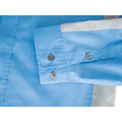 明石スクールユニフォームカンパニー 男女兼用シャツ サックス S UN3396-62-S (直送品)