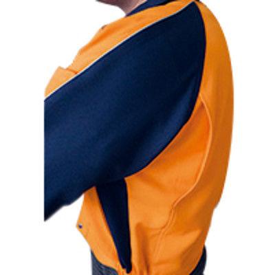 明石スクールユニフォームカンパニー 男女兼用半袖ブルゾン ネイビー L UN795-7-L (直送品)