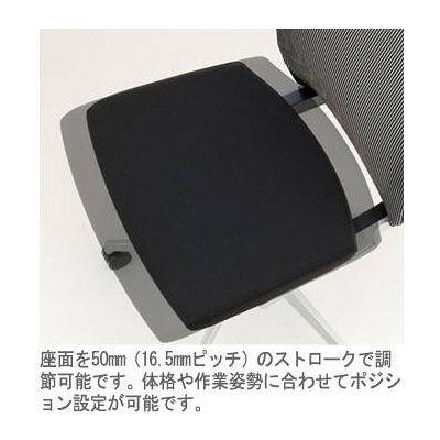 イトーキ ヴェントチェア プレーンメッシュ アジャスタブル肘付 ブラック KE-837JB-ZLT1 (直送品)