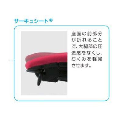 イトーキ cassico(カシコ) オフィスチェア T型肘付 背面:樹脂タイプ(ブラック) 背座:ラズベリーレッド 1脚 (直送品)