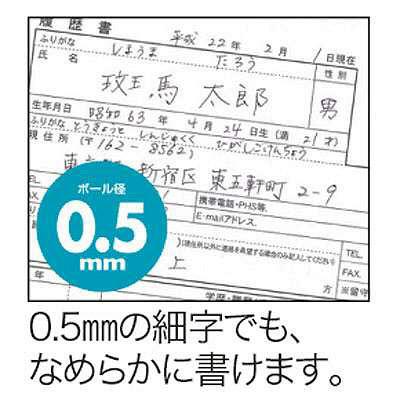 ゼブラ スラリ0.5 黒 BNS11-BK 1箱(10本入)